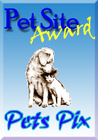 Pet Site Award from Pets Pix